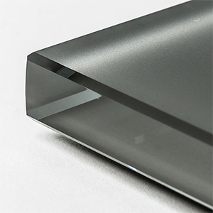 Extra Clear Frosted Graphite Painted Glass
