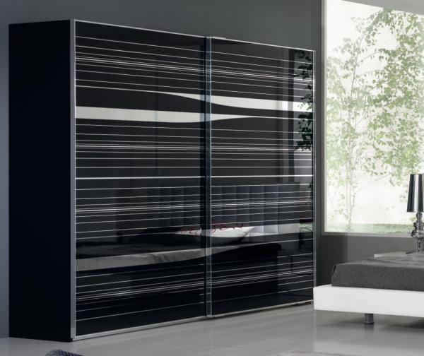 Modern Italian Wardrobe SP-Linea Black