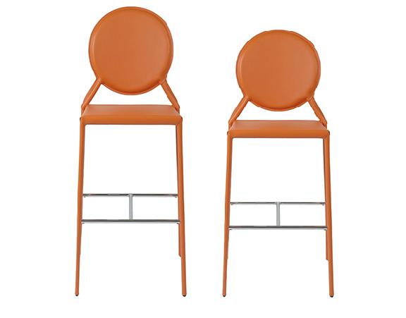 Modern Bar Stool IM-Isabella Orange