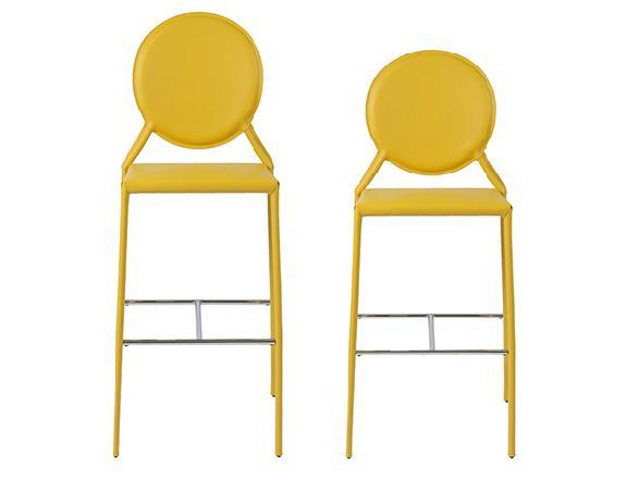 Modern Bar Stool IM-Isabella Yellow