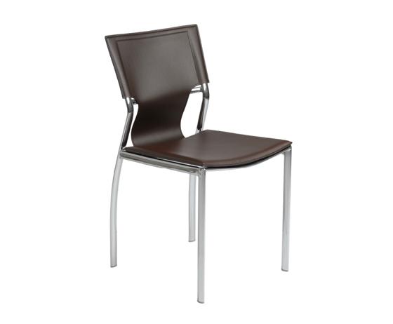 Modern Dining Chair IM-Vannie Side Brown