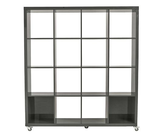Modern Bookshelf IM-Saul 4x4 Gray