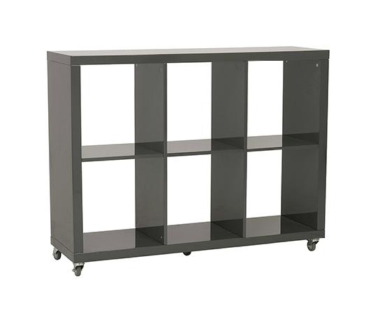 Modern Bookshelf IM-Saul 2x3 Gray