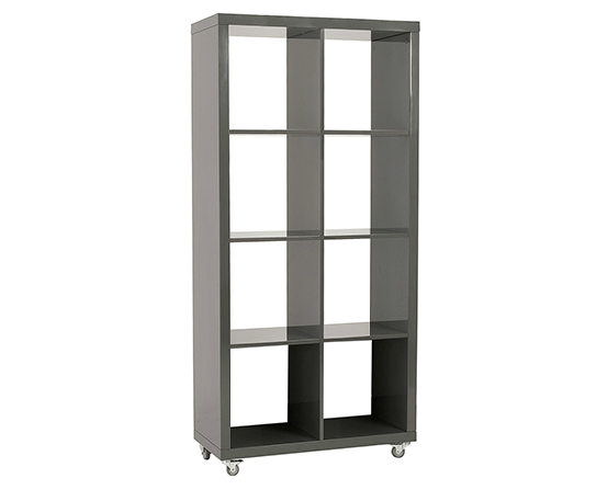 Modern Bookshelf IM-Saul 4x2 Gray