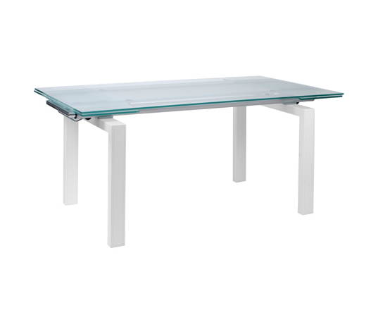 Modern Dining Table IM-Shelly White