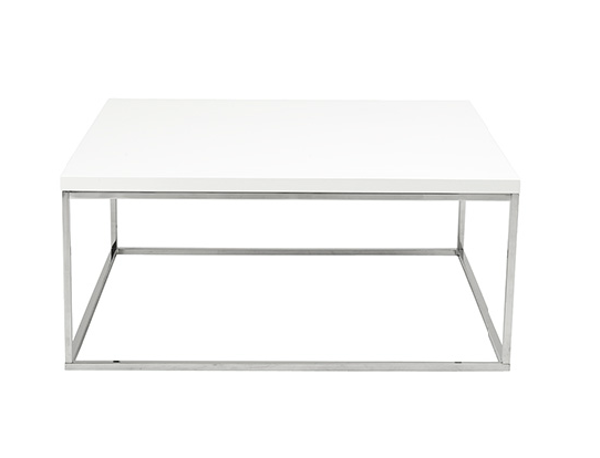 Modern Coffee Table IM-Teresa White Square