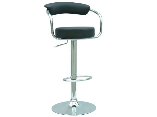 Height Adjustable Bar Stool 0326 Black by Chintaly