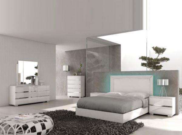 Live White Platform Bed