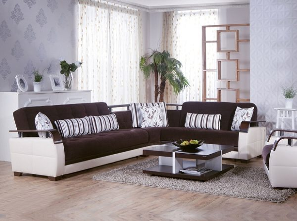 Sunset Furniture Sectional Sofa Bed Natural
