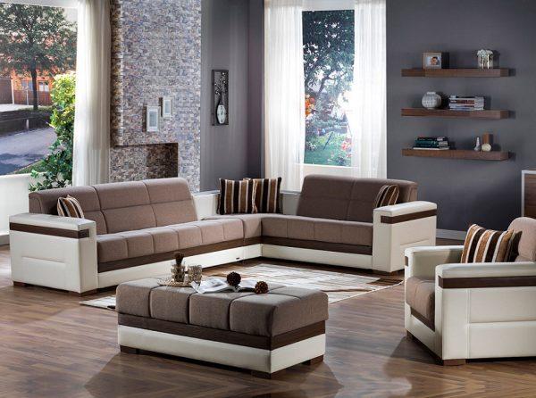 Sunset Furniture Sectional Sofa Sleeper Moon