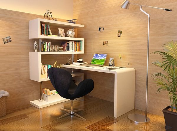 Modern Workstation KD002 by J&M Furniture