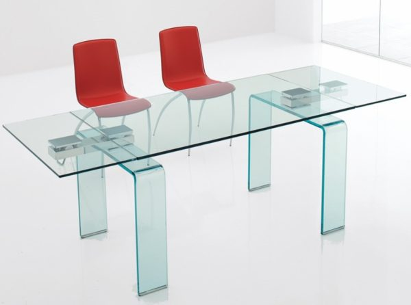 Glass Dining Table Azimut by Cattelan Italia