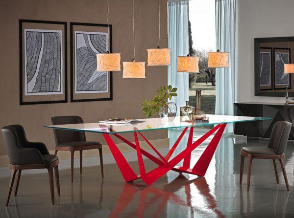 Skorpio Glass Dining Table by Cattelan Italia