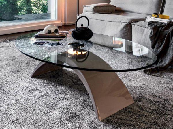 Glass Coffee Table Tudor by Tonin Casa