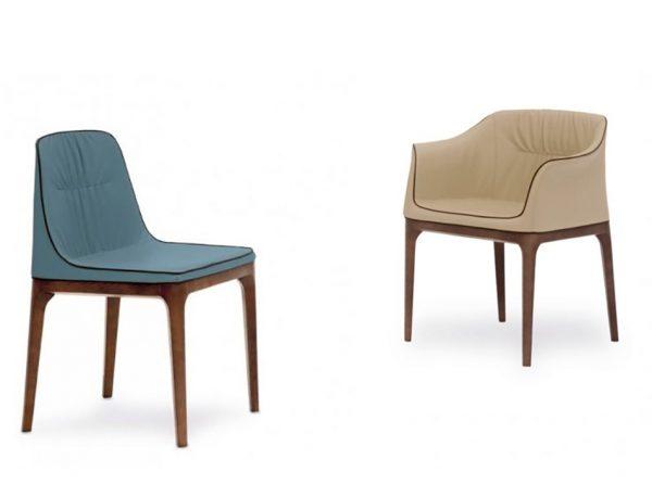 Mivida Dining Chair / Armchair by Tonin Casa