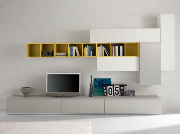 Modern Wall Unit Exential T35 by SPAR, Italy