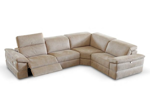 Genesis Sectional Sofa with Recliner by Seduta d'Arte