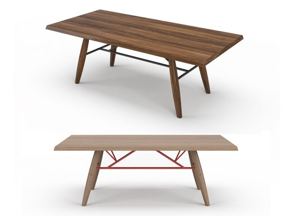 Wooden Dining Table Connection by Up Huppe