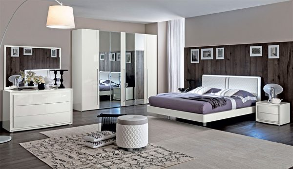 Italian Bed / Bedroom EF-Dama Bianca by Camelgroup
