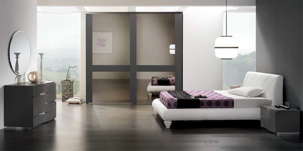 Modern Platform Bed Rondo by Spar Italy