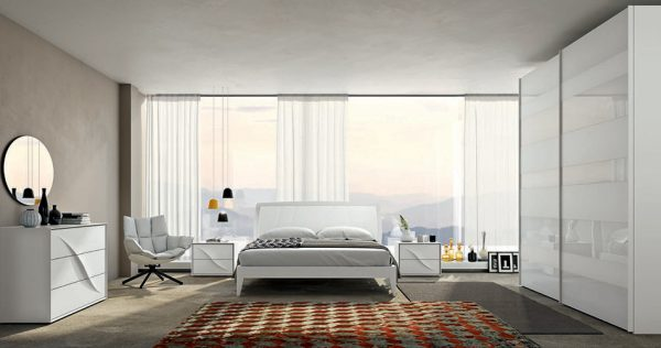 Modern Platform Bed Lapis 02 by SPAR, Italy
