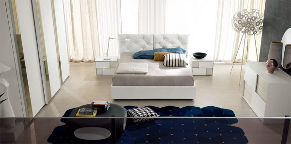 Spar Italian Upholstered Bed / Bedroom Set Mix 02