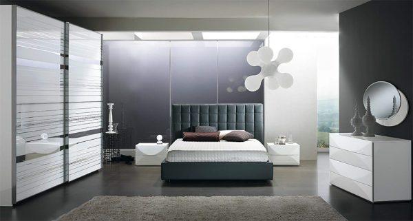 Italian Platform Bed / Bedroom Scacco 02 by Spar