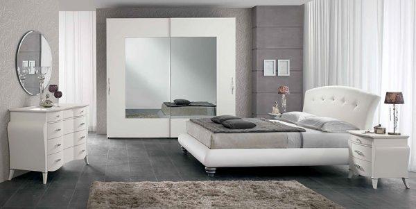 Upholstered Italian Bed / Bedroom Luna 06 by SPAR