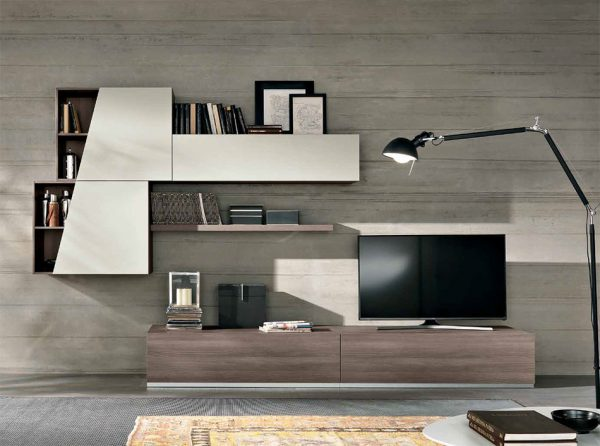 Spar Wall Unit Exential T08 - Made in Italy