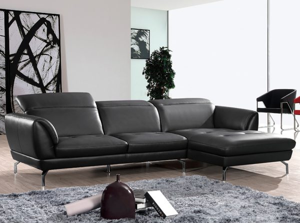 Beverly Hills Orchard Sectional Sofa Black