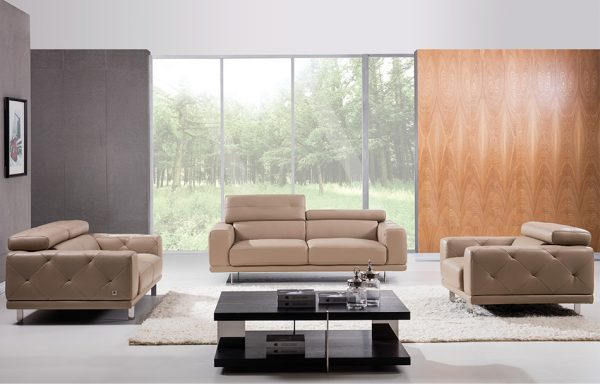 Modern Leather Sofa S116 by Beverly Hills