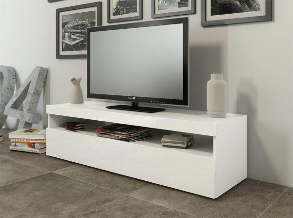 Modern Italian TV Stand Burta Small   White