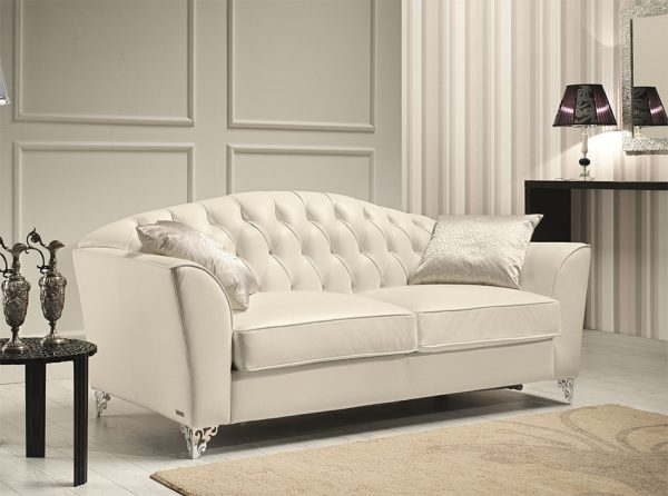 Divina Italian Leather Sofa by J&M Furniture