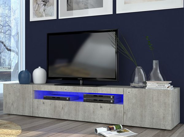 Modern Italian TV Stand DURI-79 Cement