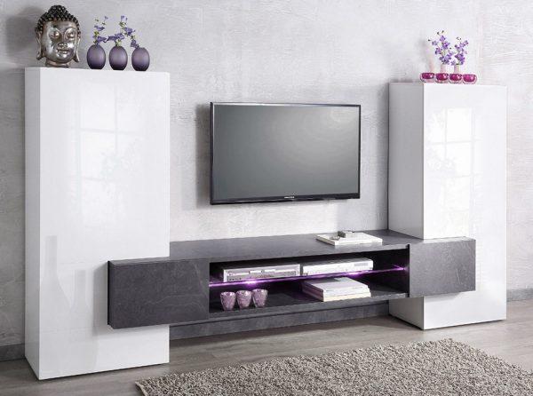 Modern Italian TV Stand / Wall Unit INCASTRO High