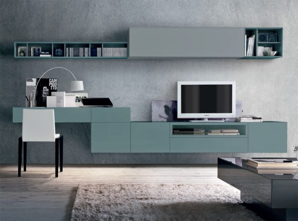 Modern Wall Unit Z055C by Tomasella Italy