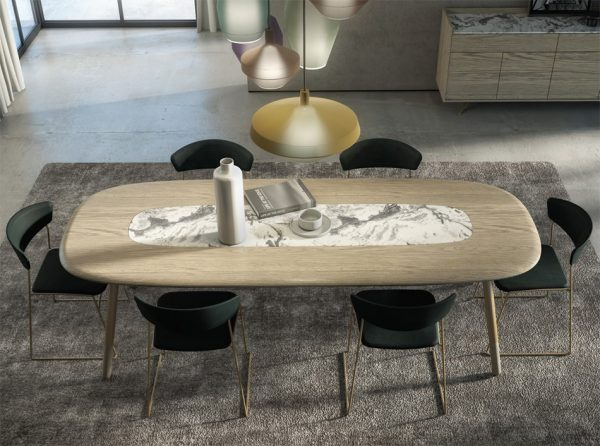KOVAL Dining Table by Huppe   Made in Canada