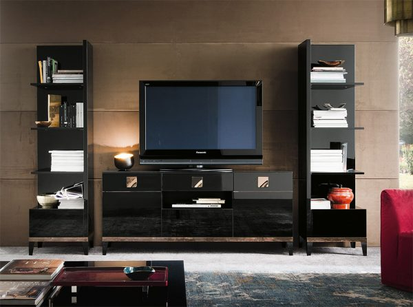 Mont Noir Entertainment Wall Unit by ALF   Italy
