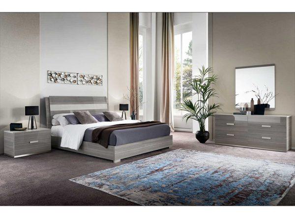 Iris Italian Bed Group by ALF | Wooden Headboard