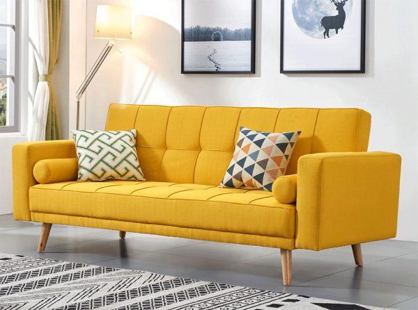 Fabric Sofa Bed EF-116   Yellow