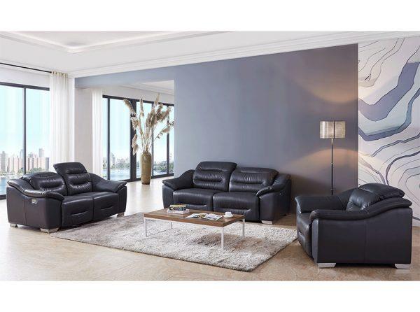 Modern Leather Sofa EF-972 w/ 2 Recliners