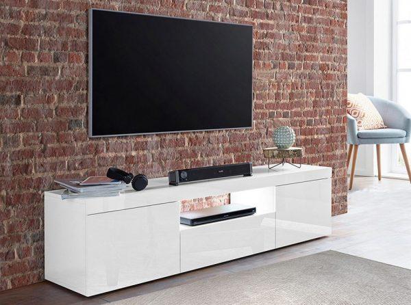 TV Stand Fessura-59 Gloss White, Italy