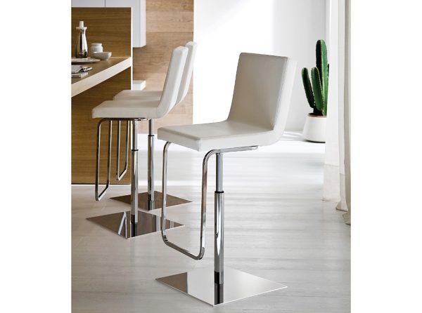 Modern Bar Stool DI-Afro SG White