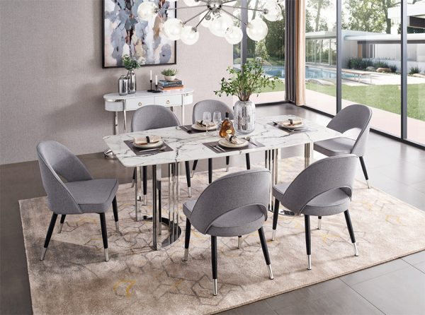 Dining Table Set 131   Silver
