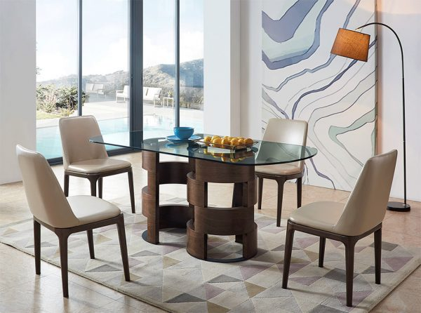Modern Glass Top Dining Table EF-1601