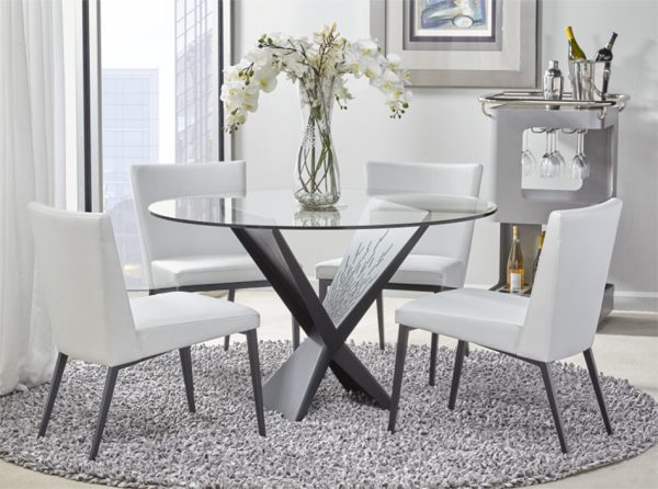 Exceptional Glass Dining Table Atlas   Elite Modern