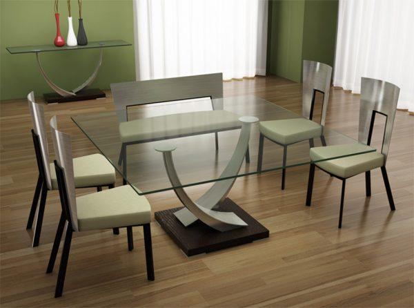 Large Square Dining Table Tangent | Elite Modern