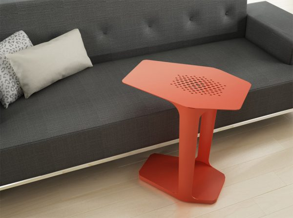 Steel Accent Table Cabana by Elite Modern