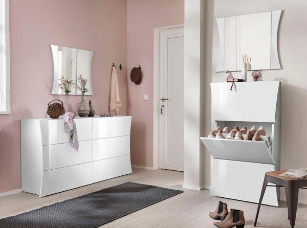 Modern Italian Shoe Cabinet Hall Unit Amor