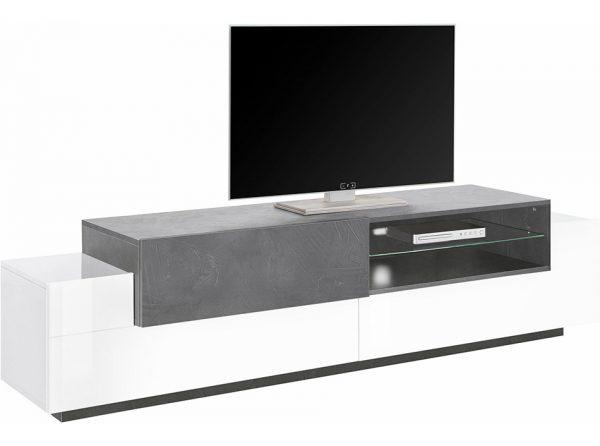 White Gloss Modern TV Stand Azimut 79O | Italy
